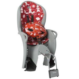 HAMAX otroški sedež KISS siv/rdeča podloga + čelada rdeča