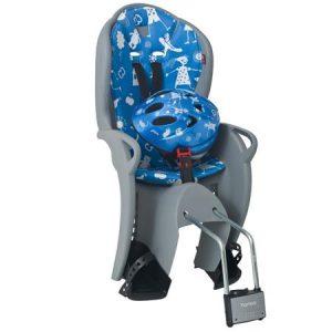 HAMAX otroški sedež KISS siv/modra podloga + čelada modra