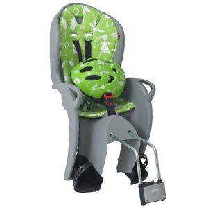 HAMAX otroški sedež KISS siv/zelena podloga + čelada zelena
