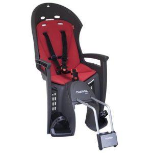 HAMAX otroški sedež SMILEY siv/rdeča podloga