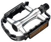 PEDALA ALU MTB/TREKING TW SP-2662 z odsevniki srebrni